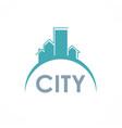city building logo vector image