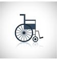 Wheel chair icon flat vector image