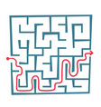 labyrinth with solution vector image
