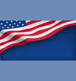 american nation banner with national flag vector image vector image