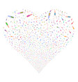 ampoule fireworks heart vector image vector image