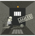Arrested and jailed vector image