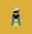 bearded king wearing sunglasses vector image vector image