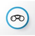 binoculars icon symbol premium quality isolated vector image