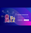blood donation charity mutual aid concept vector image vector image
