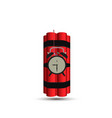 bomb dynamite time red background detonator vector image