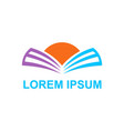 book knowledge horizon logo vector image vector image