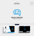 brain consult logo designs brain logo icon with vector image vector image