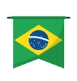 brasilian flag hanging symbol vector image