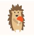 Cartoon Cute Hedgehog vector image vector image