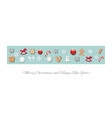christmas border decorated with different toys vector image vector image