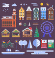 christmas city constructor vector image vector image