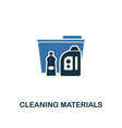 cleaning materials icon creative two colors vector image vector image