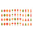 Colorful christmas trees seamless pattern backgrou