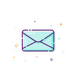 concept mail icon thin line flat design element vector image vector image