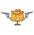 cowboy table cloth character cartoon vector image
