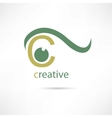 Creative eye icon vector image