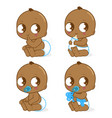 cute african american baboy vector image vector image