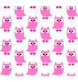 cute owls pattern vector image vector image