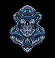 cyber robot head vector image