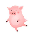 dancing pig animal cartoon character isolated on vector image vector image