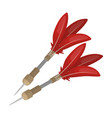darts for the wind gunafrican safari single icon vector image