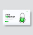 design site header for information protection vector image