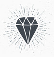 diamond vintage label hand drawn sketch grunge vector image vector image