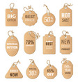 discounts tags drop price and big sales vector image vector image