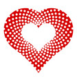 dotted heart icon simple style vector image vector image