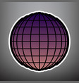 earth globe sign violet gradient icon vector image vector image