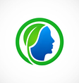eco people health bio logo vector image vector image