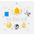 education sticker infographic vector image vector image
