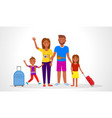 family going on summer holiday vector image vector image