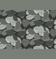 gray leaves pattern seamless backdrop vector image