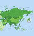 green high detail full map vector image