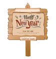 Happy New Year Wood Background vector image vector image