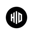 initial letter hio or hid logo simple minimalist vector image vector image