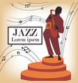 jazz band with singer saxophone vector image vector image