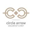 Logo Design Letter C Arrow Icon Symbol Abstract vector image vector image
