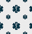 Medicine sign Seamless pattern with geometric vector image vector image
