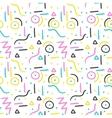 memphis pattern design seamless print vector image
