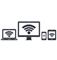 modern digital devices with wifi internet symbol vector image vector image