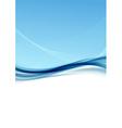 Modern transparent blue wave folder background vector image vector image