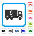 money delivery framed icon vector image