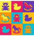 multicolored children toys vector image