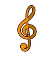 musical note icon image vector image