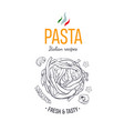 pasta design template 2 vector image