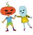 phantom an pumpkin vector image vector image