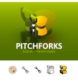 Pitchforks icon in different style vector image vector image